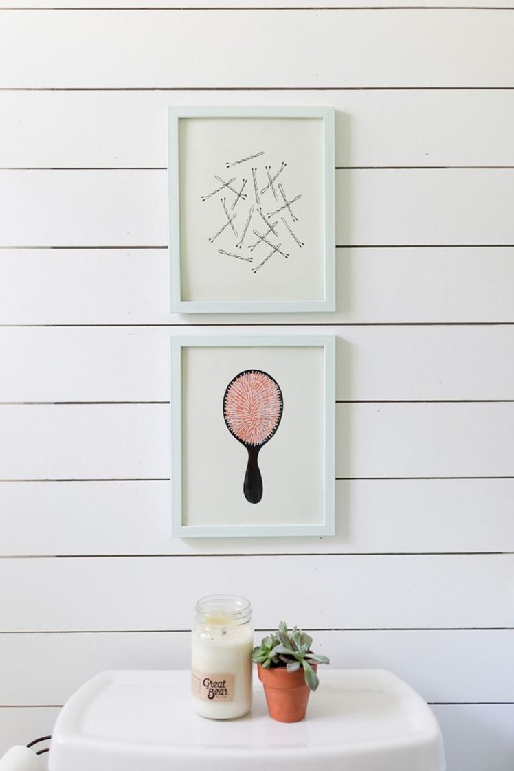 Seven: I'd love to hang these cute prints in my bathroom.