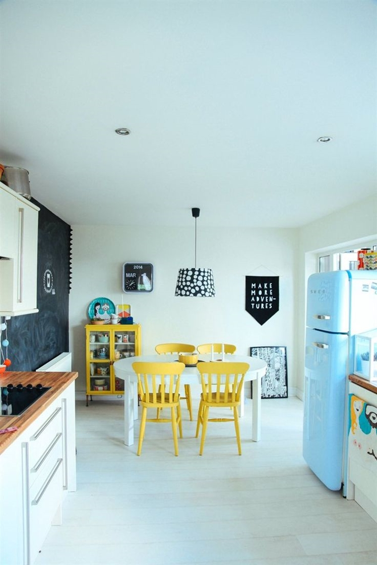 Nine: Love the pops of colour in this kitchen.