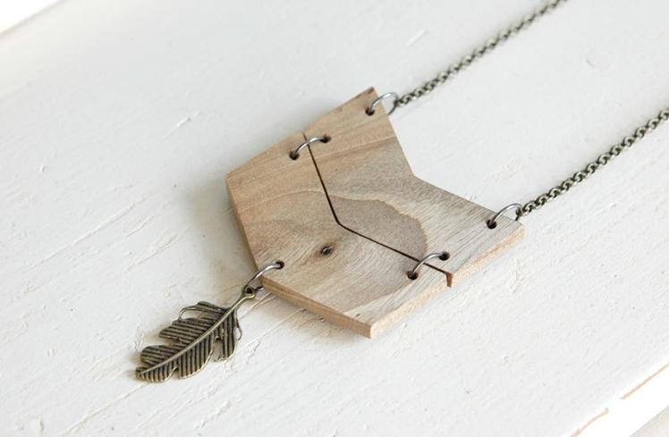 Long Chevron Necklace | Nutak