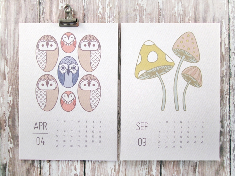 2016 Calendar - Wild and Free | Monkey Mind Design