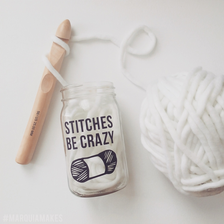 Be Crazy Mason Jar | Marquia Makes