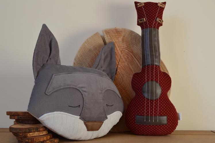 Midgins' Grey Fox and Ukulele Cushions