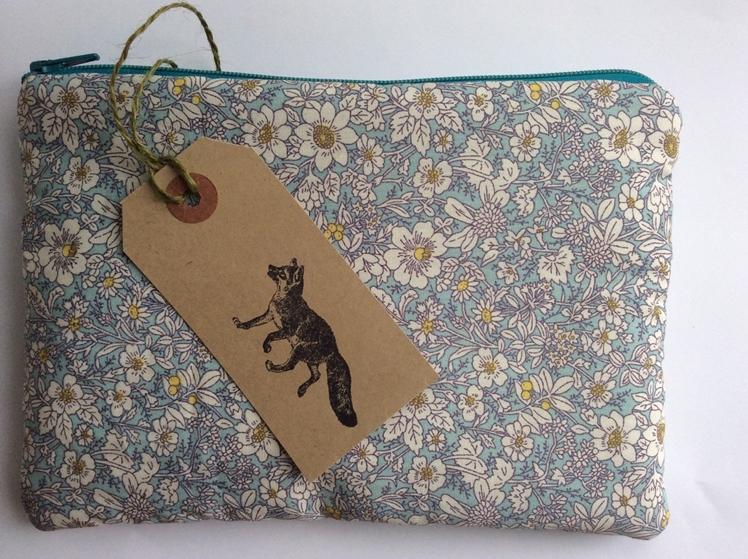 Floral Make Up Bag by Felt Foxes