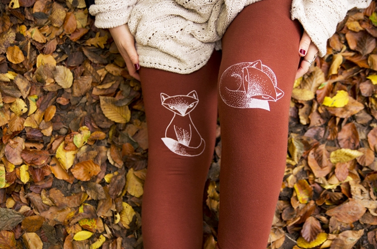 Fox Print Leggings by Opal Design