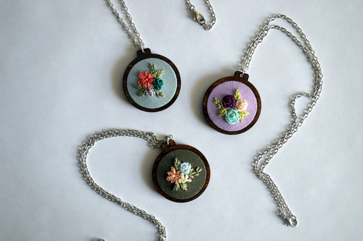 Wildflower Embroidery Necklace