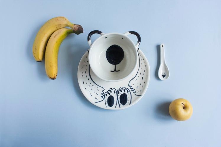 Children's Tableware Bear & Bird | Madriguera Workshop