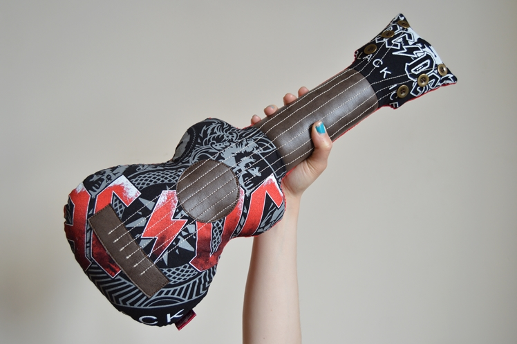 Upcycled AC/DC Guitar Cushion - Midgins' Blog