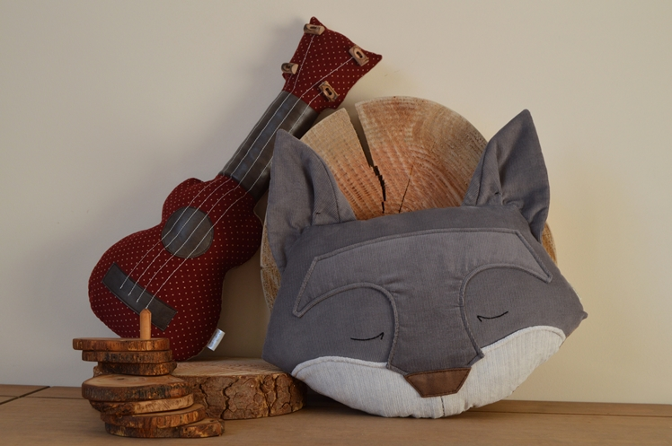 Midgins' Grey Fox and Ukulele Cushions