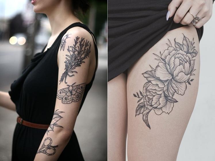 Botanical Tattoo Inspiration Midgins' Blog