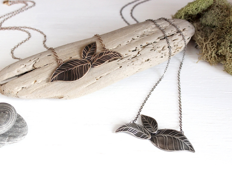 Leaves Necklace | The Knotty Owl Shop