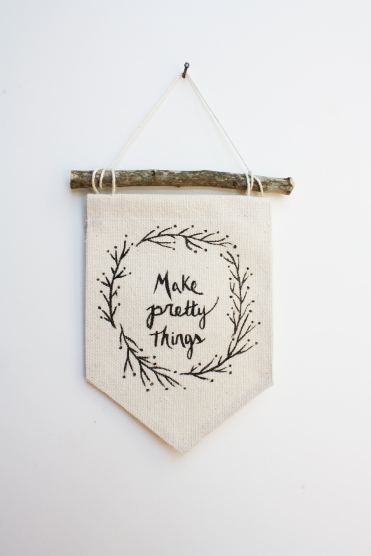 Make Pretty Things Canvas Banner | Small Branches