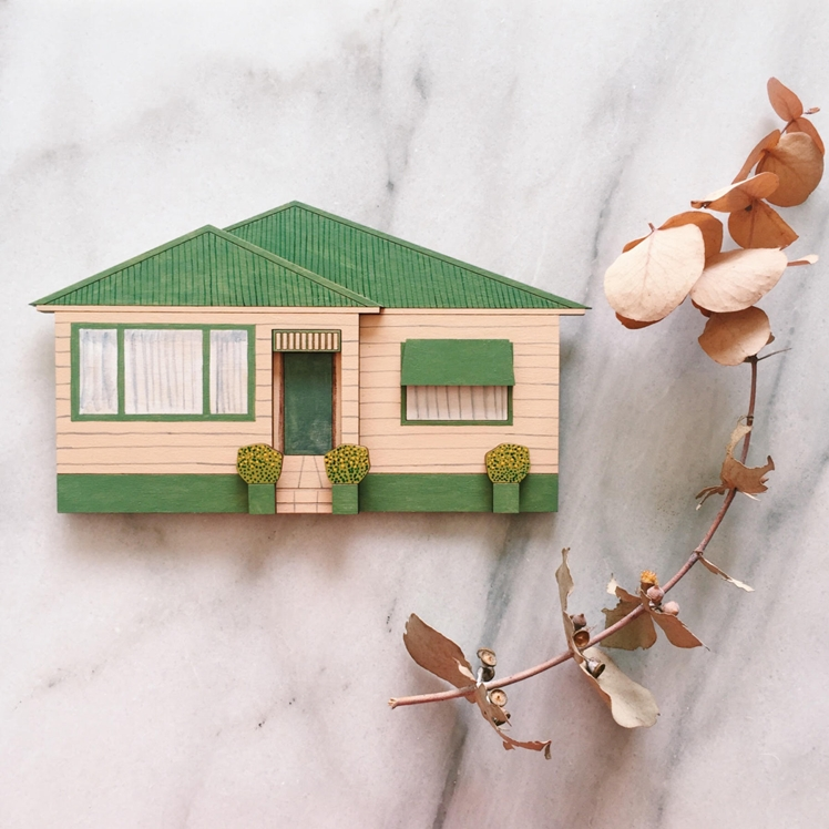 Wooden House Portrait | Whimsy Milieu