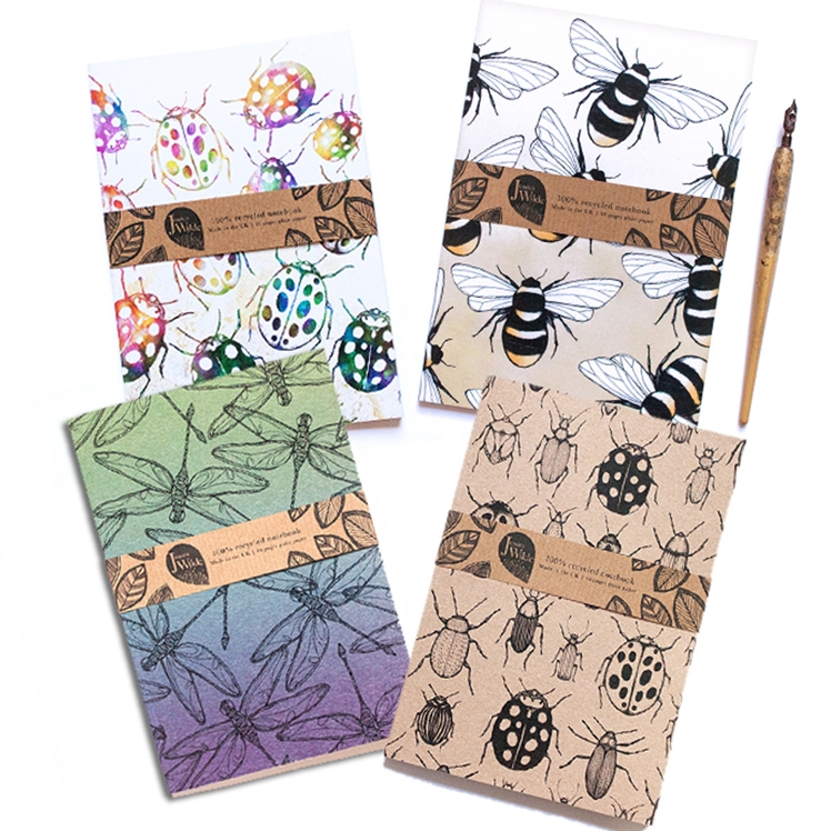 Botanical A5 Recycled Notebook Set | Jessica Wilde Designs