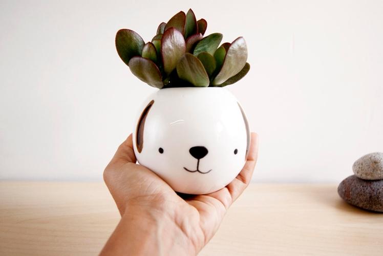 Dog Ceramic Plant Pot | Noe Marin