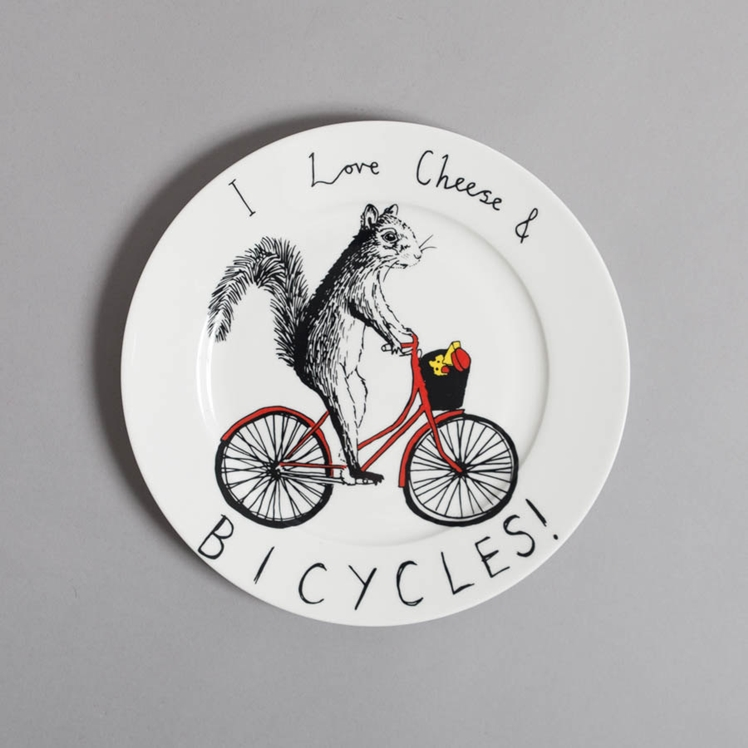 Cheese & Bicycles Side Plate | Jimbobart