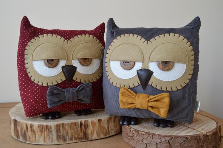 Owl Cushions by Midgins'