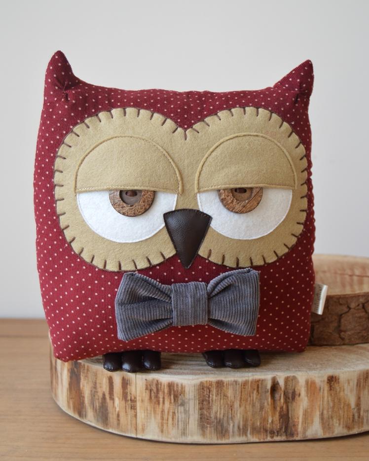 Owl Cushion by Midgins'