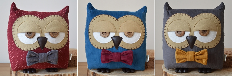 Owl Cushions by Midgins'