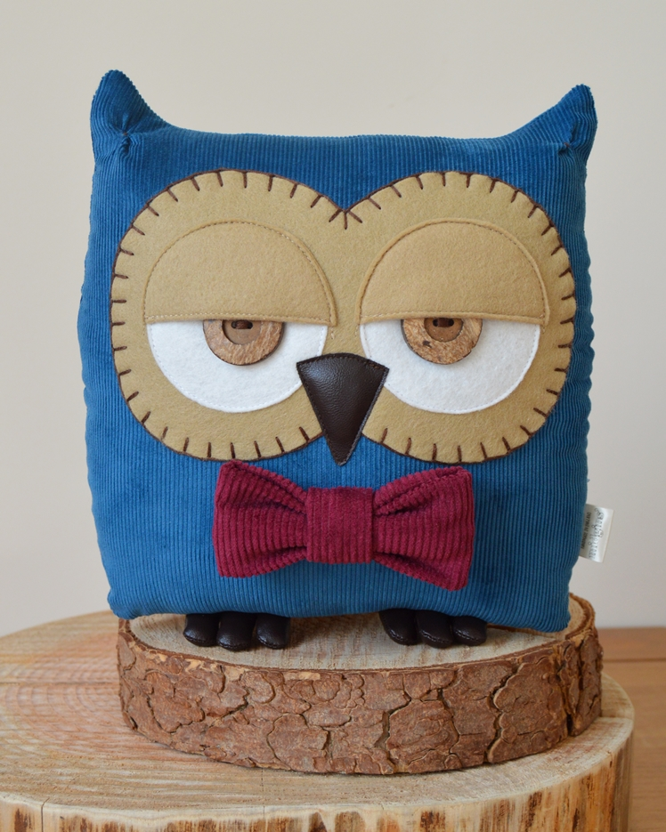 Owl Cushion by Midgins'
