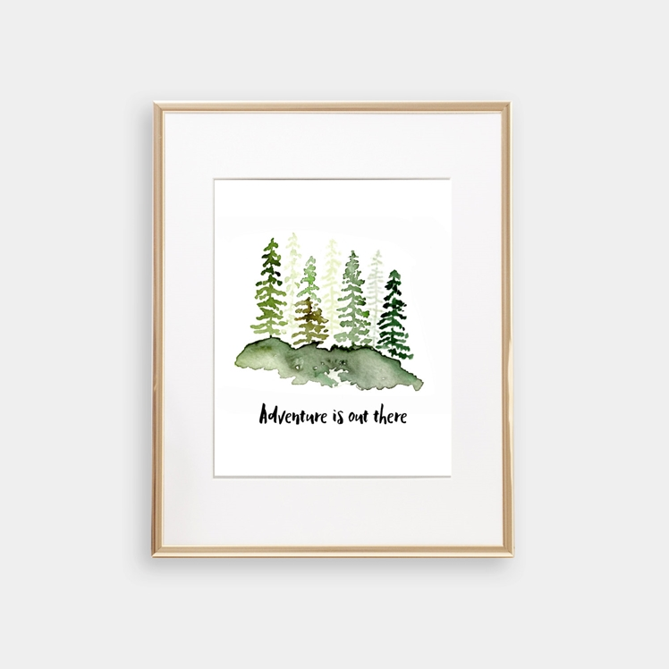 Adventure Is Out There Print | Emerson Paper Co
