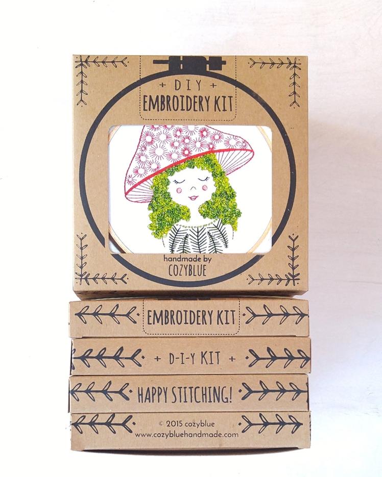 Mushroom Girl Embroidery Kit | Cozyblue