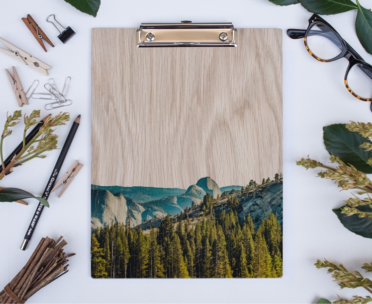 Yosemite Half Dome Wood Clipboard | Lemonee on the Hills