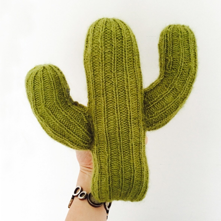 Knitted Cactus Pillow | Sootie Limetree