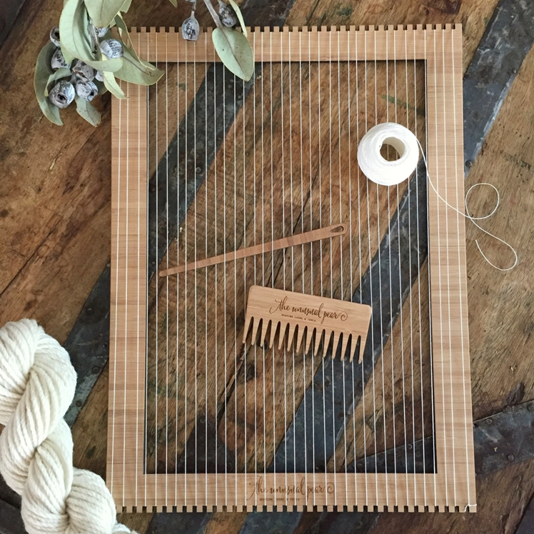 Large Bamboo Weaving Loom Kit | The Unusual Pear