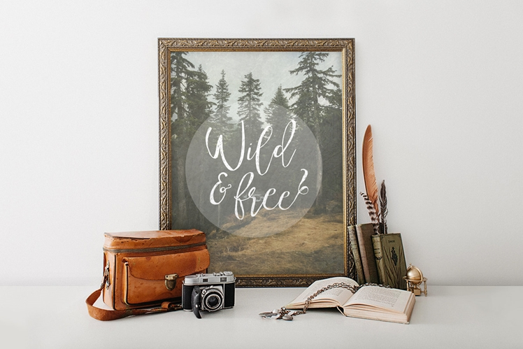 Wild and Free (Printable Digital Art File) | The Print Annex