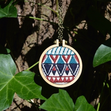Aztec Embroidered Necklace - Midgins'
