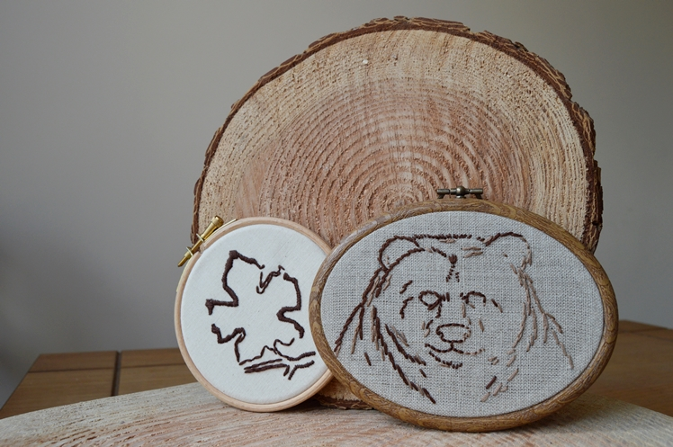 Bear Embroidery Hoop - Midgins'