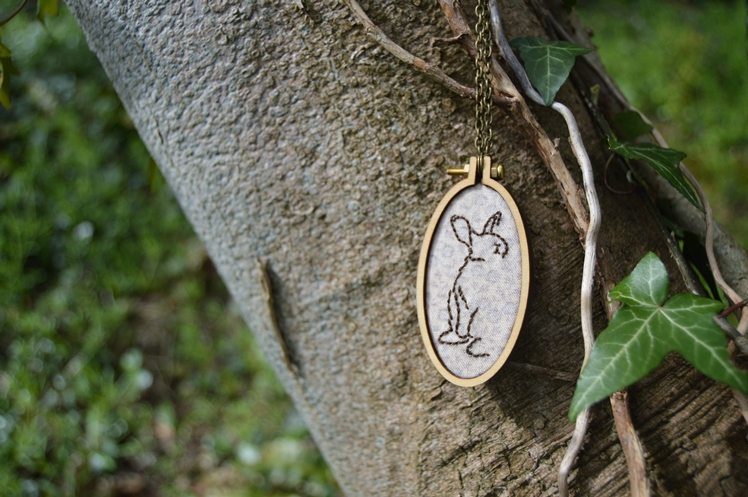Bunny Embroidered Necklace - Midgins'