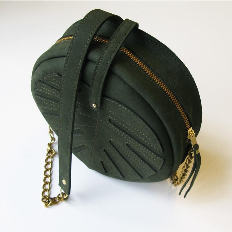 Green Leather Bag | La Lisette