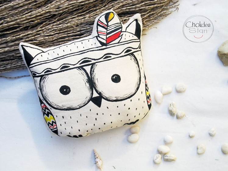 Owl Pillow | Chokdee Sign