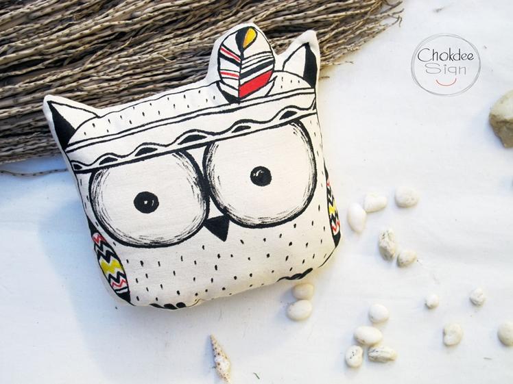 Owl Pillow | Chokdee Sign