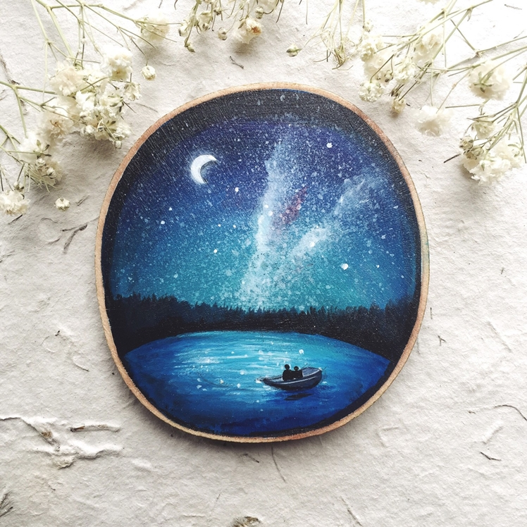 Stargazing on the Water Wood Wall Piece | Gracemere Woods
