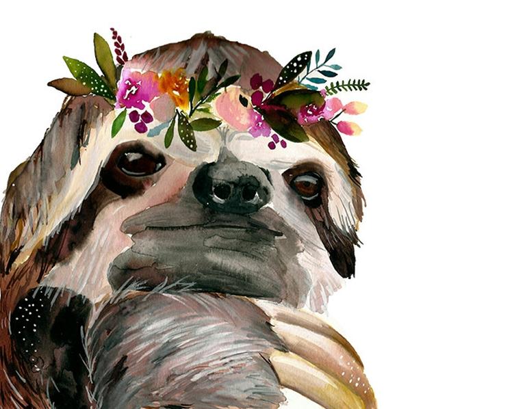 Sloth Print | Dandelion Paper Co