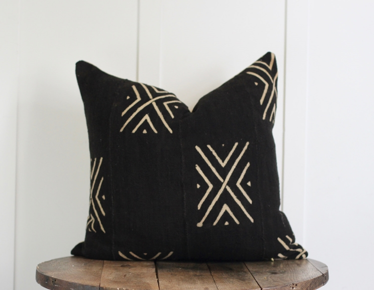 African Mudcloth Pillow | Mae Woven