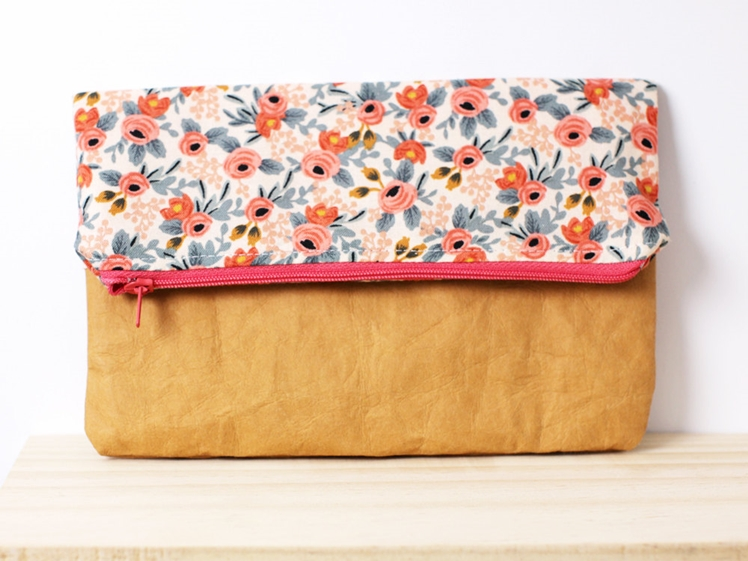 Washable Paper Fold Over Clutch | Hello Sweet Mae