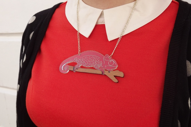Chameleon Necklace | Designosaur Yeah