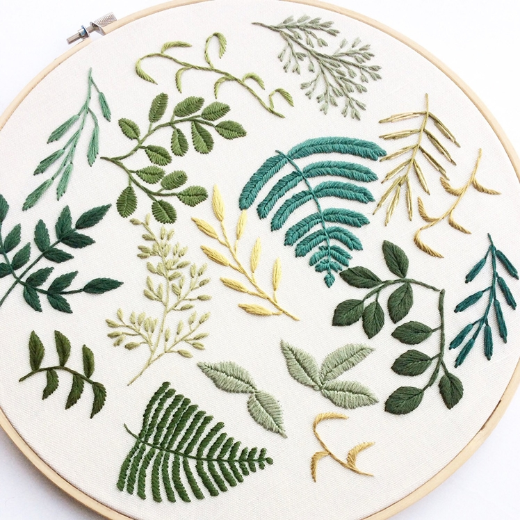 12 Inch Classic Mix Leaf Hoop | Sew and Saunders