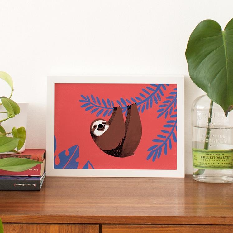 Happy Sloth Print | Carolina Buzio