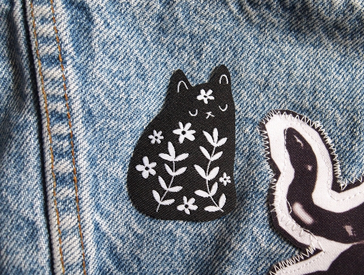 Cat Woven Patch | I Like Cats Shop