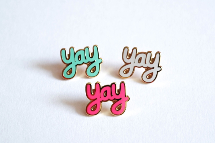 Yay Pin Badge | Rock Cakes