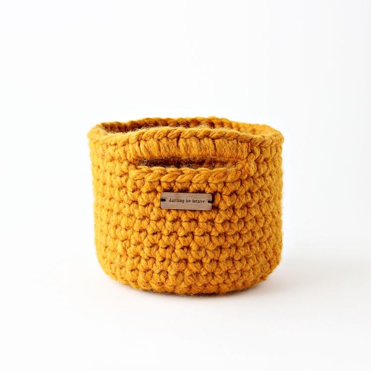 Mini Crochet Basket | Darling Be Brave
