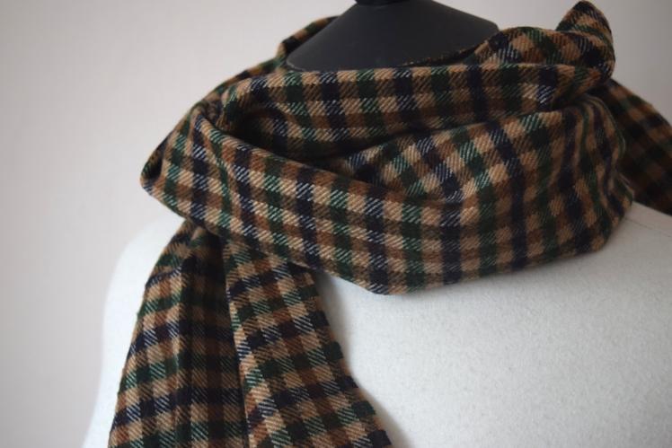 Check Winter Scarf | Eno Vintage Online