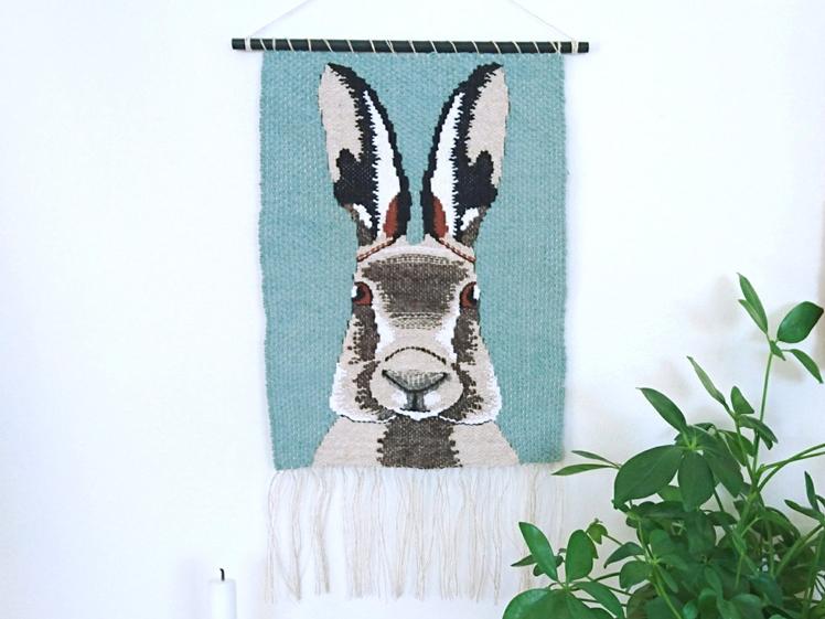 Pet Portrait Weaving   Heroic Acorn