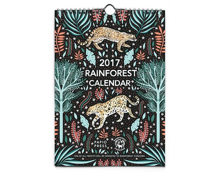 2017 Rainforest Wall Calendar | Papio Press