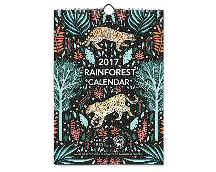 2017 Rainforest Wall Calendar | Papio Press
