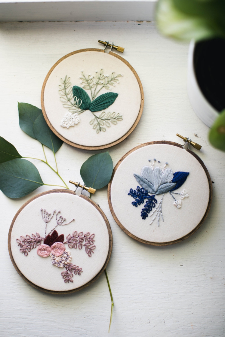 Floral Embroidery Hoop Art | Thistle Thread Design